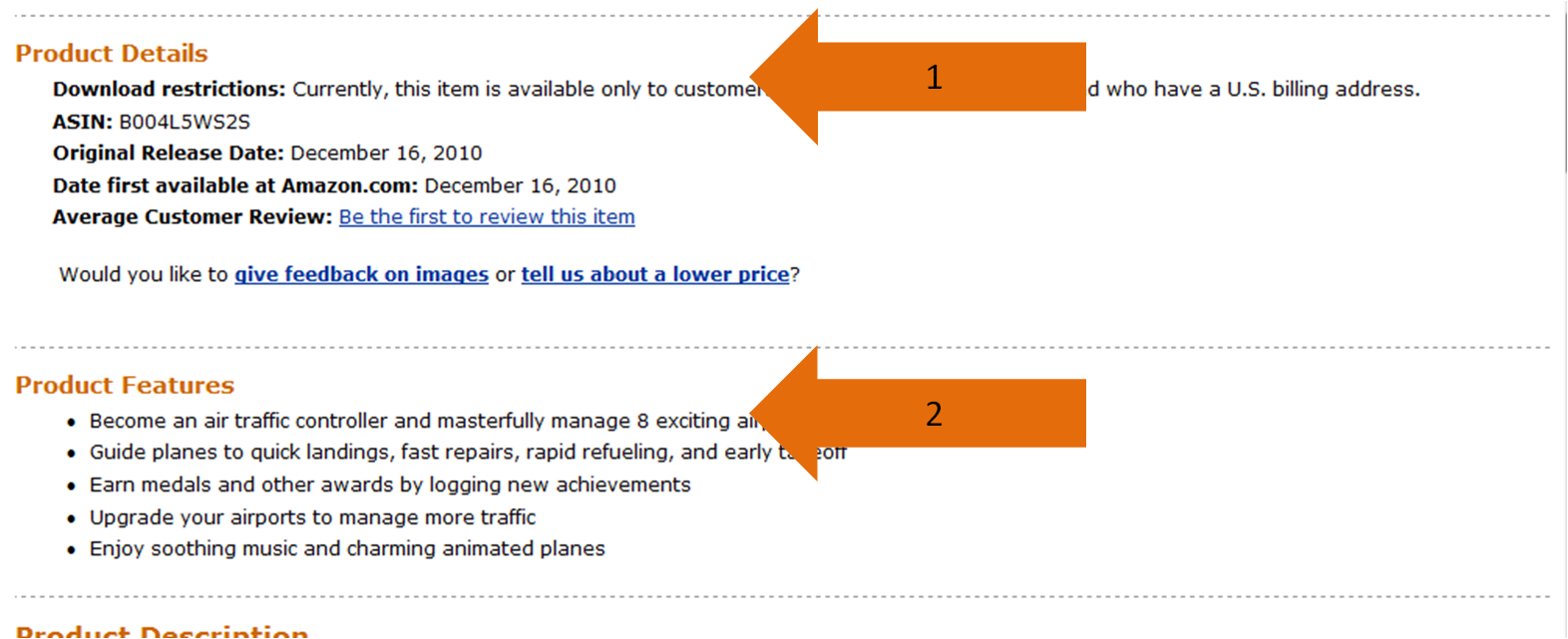 Amazon Product Features