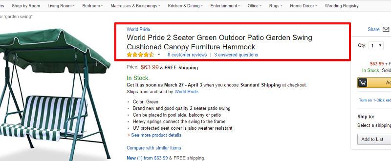 Amazon SEO: Product Title