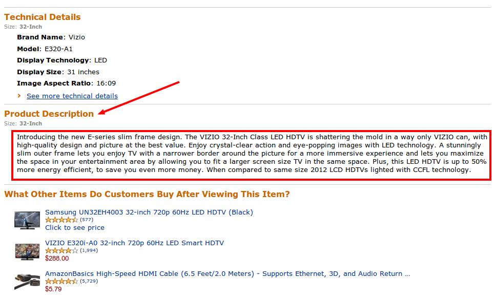 Amazon Product Description Image
